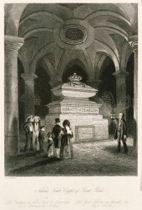 Tomb of Horatio Nelson by Thomas H. Shepherd