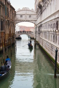Beyond the Bridge of Sighs! The Ponte della Paglia is often crowded