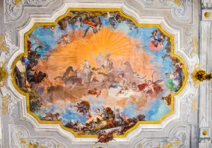 One of the beautiful ceiling paintings at Ca' Rezzonico