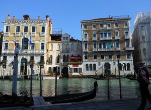 Travelling by water is a good way to see the Grand Canal's pallazzi - and save your feet!